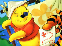 Cartoon Winnie Hidden Star
