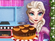 Elsa Cooking Christmas Cake