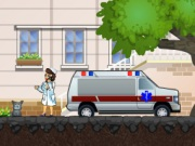 Emergency Ambulance Driving Journey