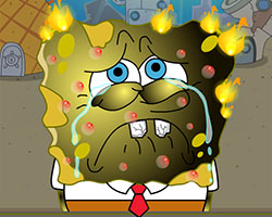 SpongeBob Burn Treatment